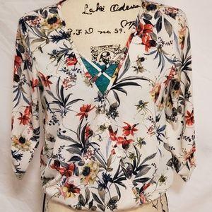 A'Gaci  Floral Blouse Size SM